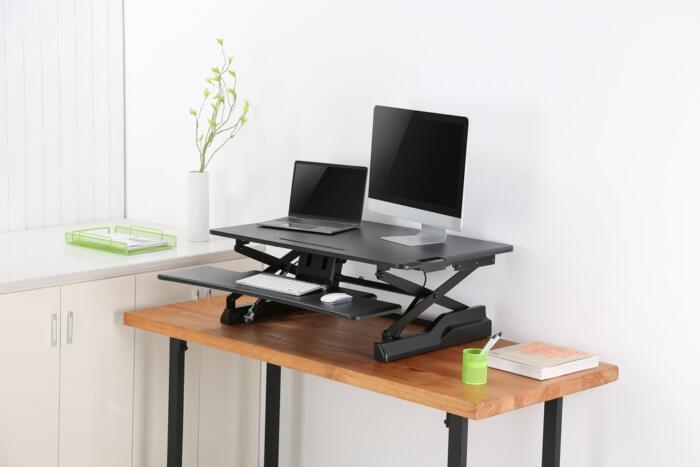 Sitz-/Steh Workstation schwarz | Anderhub.ch